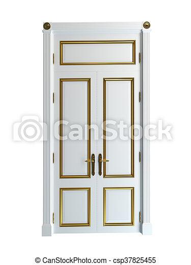 3D rendering of a classic door - csp37825455