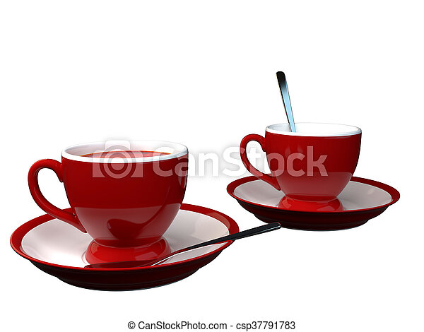 3D rendering of a cup - csp37791783