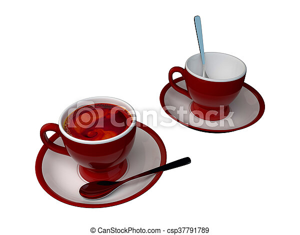 3D rendering of a cup - csp37791789