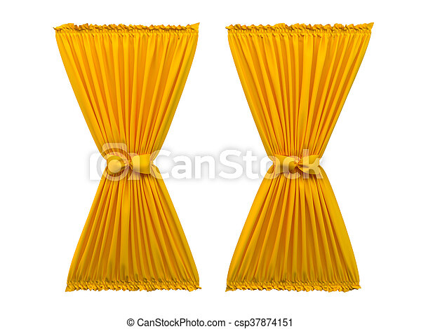 3D rendering of a curtain - csp37874151