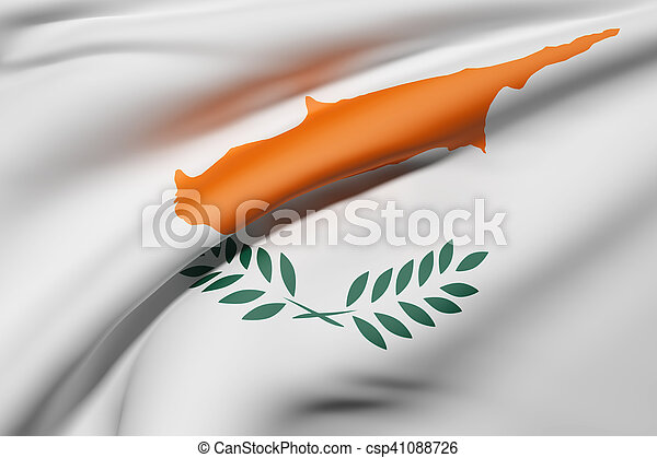 3d rendering of a Cyprus flag - csp41088726