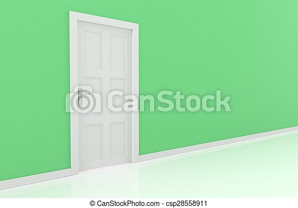 3d rendering of a door - csp28558911