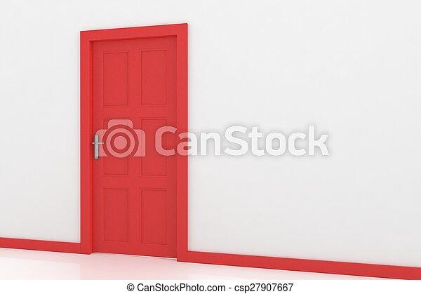 3d rendering of a door - csp27907667
