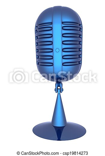 3d rendering of a microphone - csp19814273
