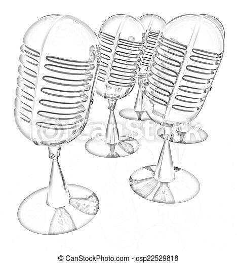 3d rendering of a microphones - csp22529818