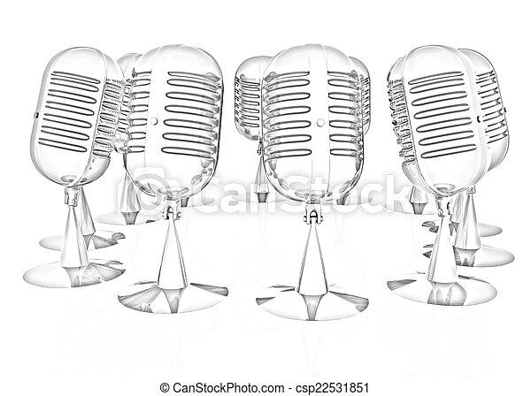 3d rendering of a microphones - csp22531851