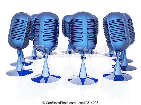3d rendering of a microphones - csp19814225