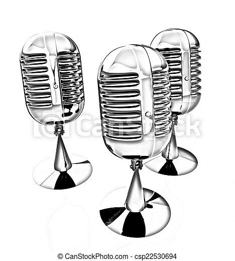 3d rendering of a microphones - csp22530694