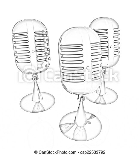 3d rendering of a microphones - csp22533792