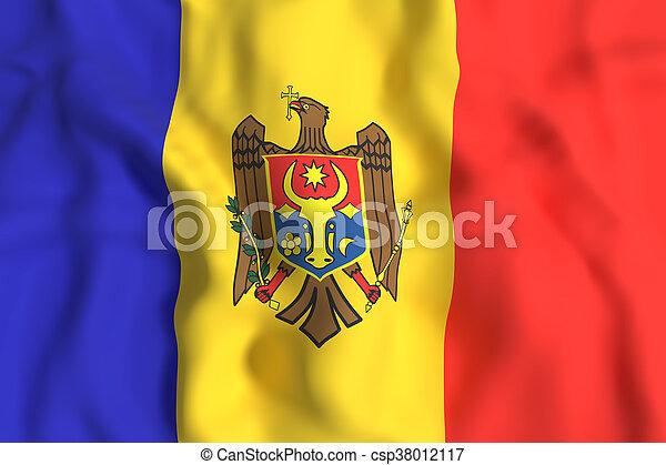 3d rendering of a Moldova flag - csp38012117