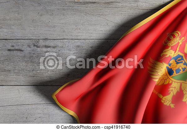 3d rendering of a Montenegro flag - csp41916740