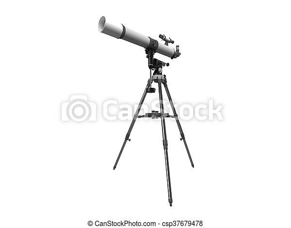 3D rendering of a telescope - csp37679478