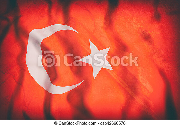 3d rendering of a Turkey flag - csp42666576