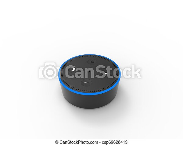 3D rendering of a virtual voice assistant isolated in white background. - csp69628413