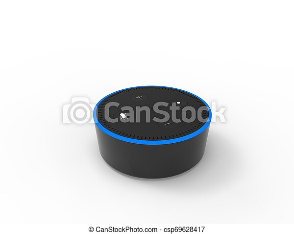 3D rendering of a virtual voice assistant isolated in white background. - csp69628417