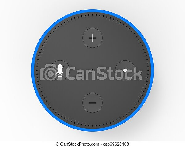 3D rendering of a virtual voice assistant isolated in white background. - csp69628408