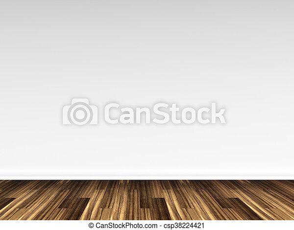 3D rendering of a wooden floor - csp38224421