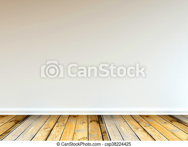 3D rendering of a wooden floor - csp38224425