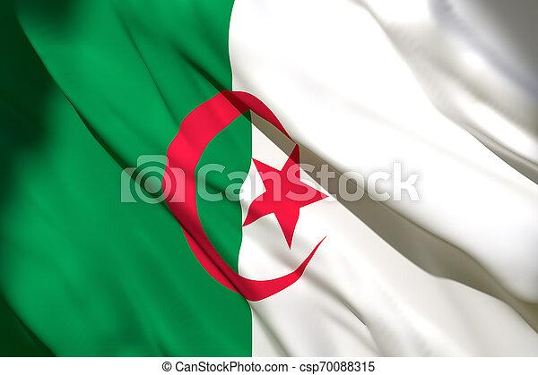 3d rendering of Algeria flag - csp70088315