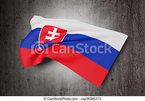 3d rendering of an Slovakia flag - csp36365313