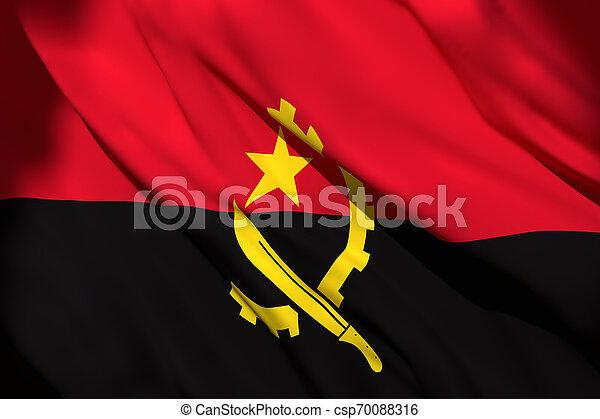3d rendering of Angola flag - csp70088316