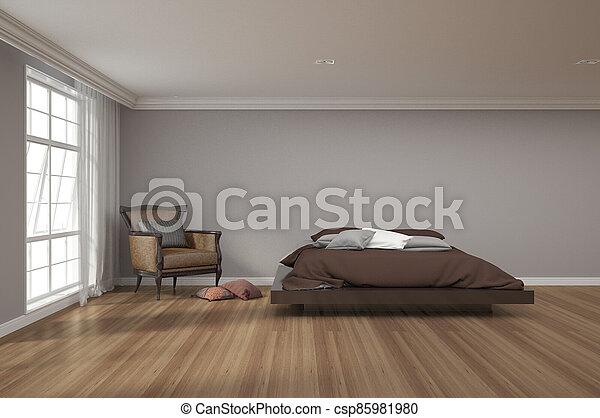 3d rendering of bedroom - csp85981980