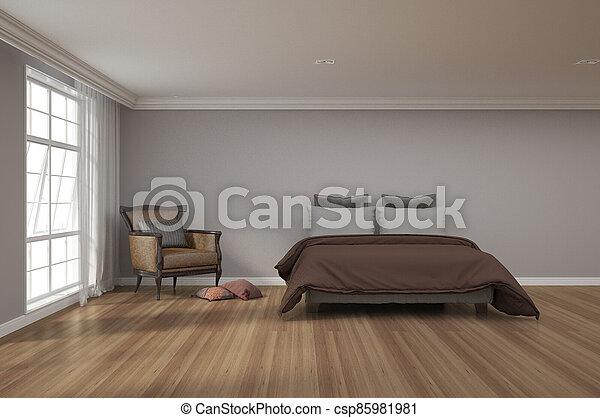 3d rendering of bedroom - csp85981981