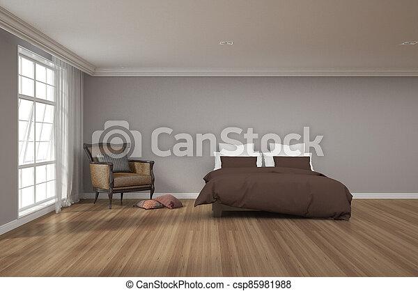 3d rendering of bedroom - csp85981988