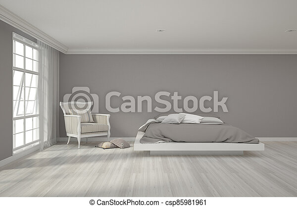 3d rendering of bedroom - csp85981961