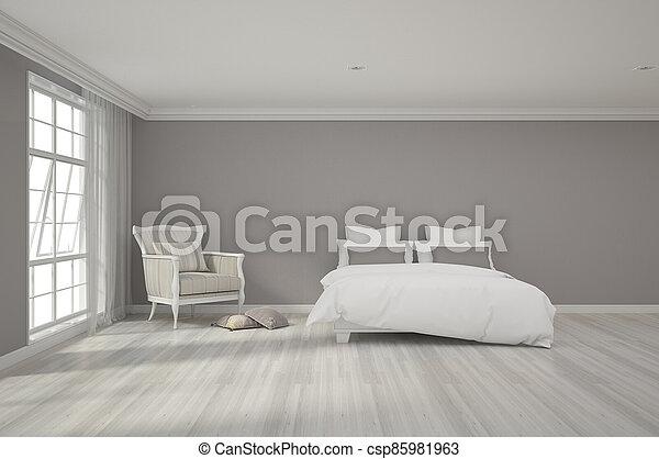 3d rendering of bedroom - csp85981963