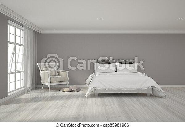 3d rendering of bedroom - csp85981966