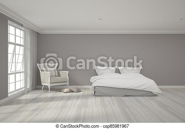 3d rendering of bedroom - csp85981967