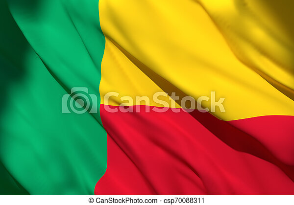 3d rendering of Benin flag - csp70088311