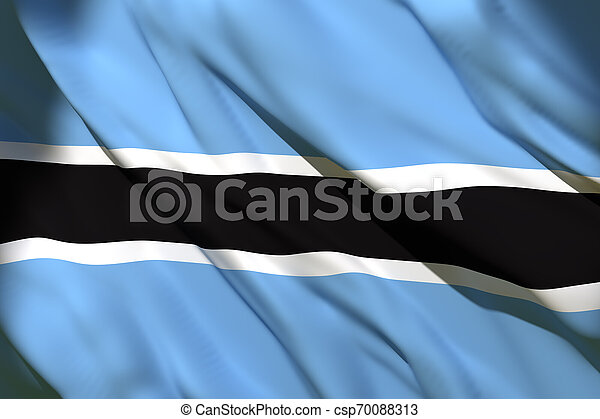3d rendering of Botswana flag - csp70088313
