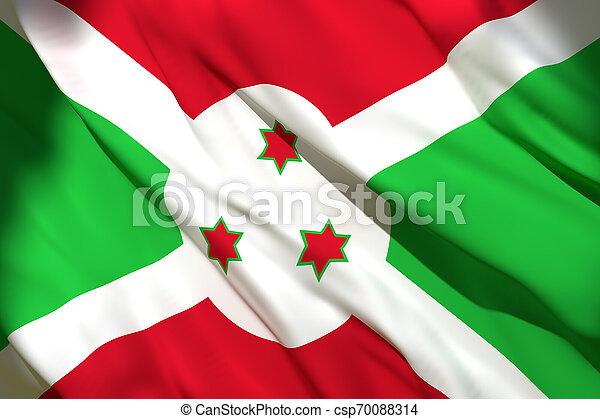 3d rendering of Burundi flag - csp70088314