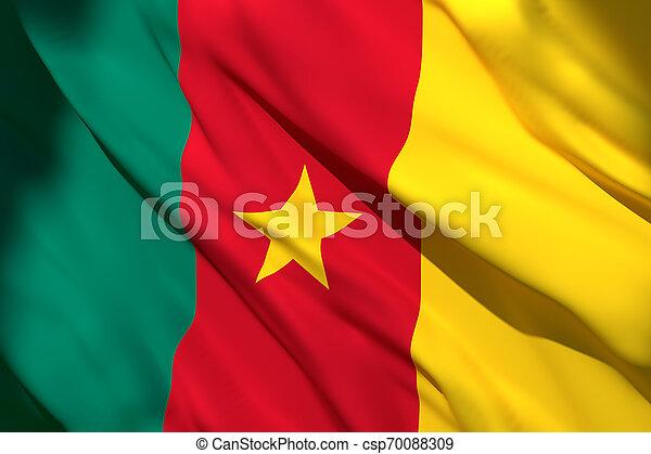3d rendering of Cameroon flag - csp70088309