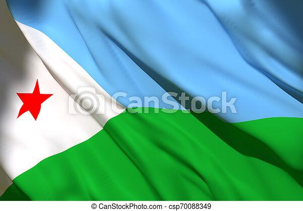3d rendering of Djibouti flag - csp70088349