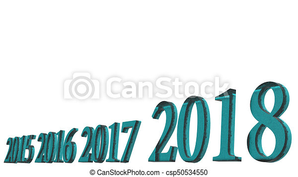 The 3d rendering of happy new year 2018 3d text design with stock 3d rendering of happy new year 2018 3d text design with clear background color csp50534550 voltagebd Gallery