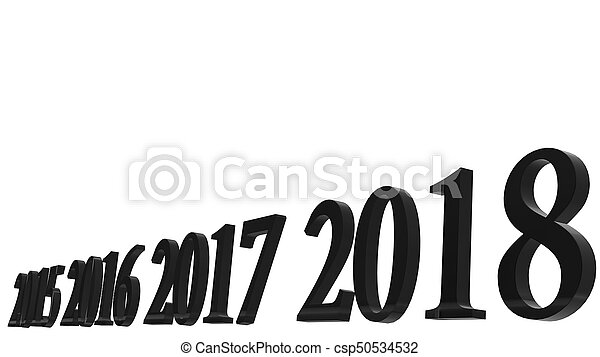 The 3d rendering of happy new year 2018 3d text design with clear 3d rendering of happy new year 2018 3d text design with clear background color csp50534532 voltagebd Images