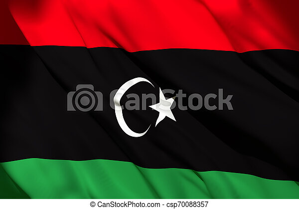 3d rendering of Libya flag - csp70088357