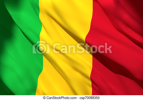 3d rendering of Mali flag - csp70088350