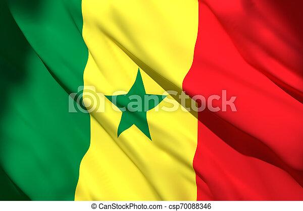3d rendering of Senegal flag - csp70088346