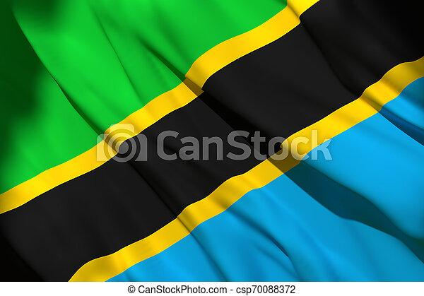3d rendering of Tanzania flag - csp70088372