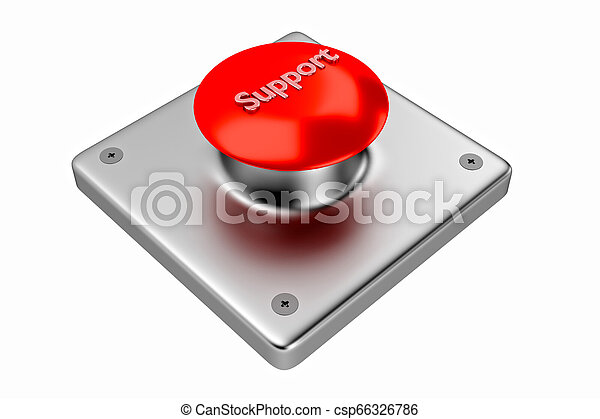 3D rendering. Red web button with support. - csp66326786