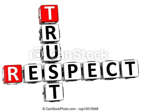 3D Respect Trust Crossword - csp10015948