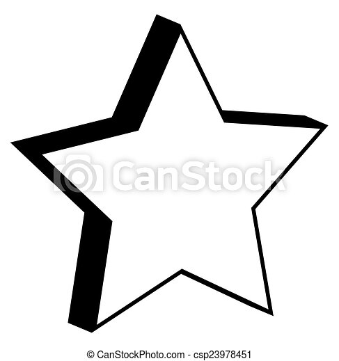 3d Retro Star Retro 3d Style Star Frame Shape Vector Design