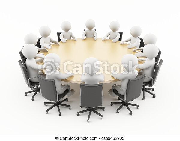 Reunión de negocios en 3D - csp9462905
