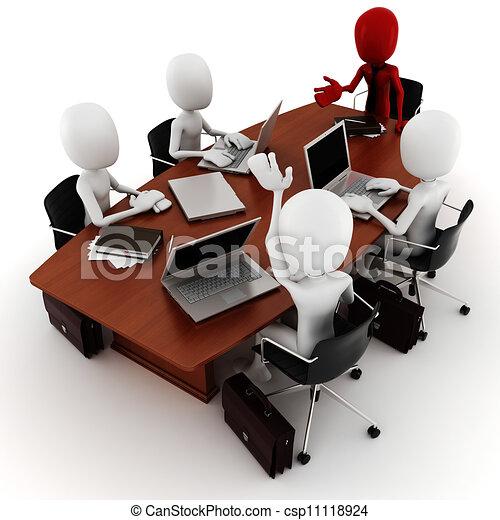 Reunión de tres hombres - csp11118924
