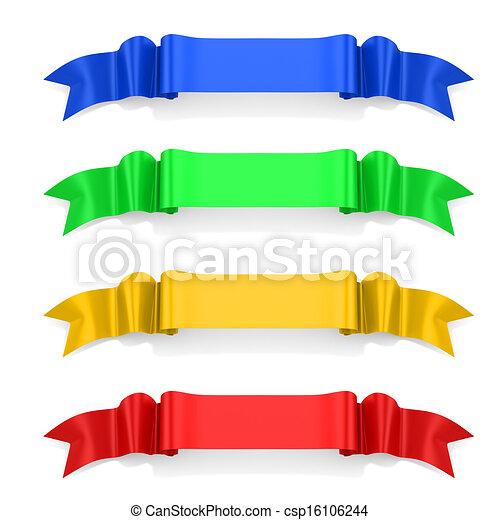 3d ribbon on white background - csp16106244