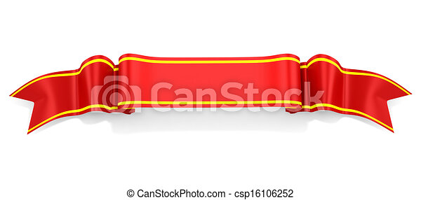 3d ribbon on white background - csp16106252